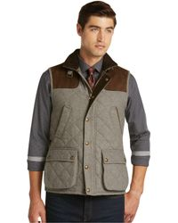 Jos. A. Bank - 1905 Collection Traditional Fit Quilted Herringbone Vest - Big & Tall Clearance - Lyst