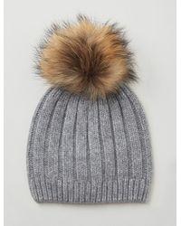 JOSEPH - Cashmere Luxe Pompon Hat - Lyst