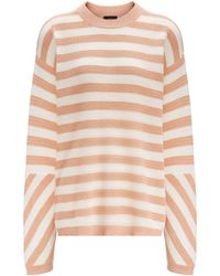 JOSEPH - Cotton Pique Stripe Long Sleeve Jumper - Lyst