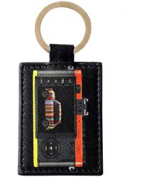 Paul Smith - Saffiano Leather Leica Mini Keyring - Lyst