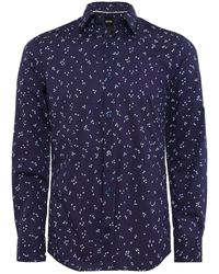 BOSS - Slim Fit Floral Reid-f Shirt - Lyst