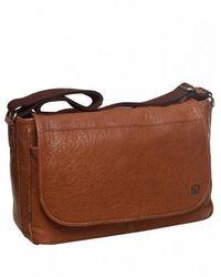 BOSS Orange - Kapi Washed Leather Hugomessenger Bag - Lyst