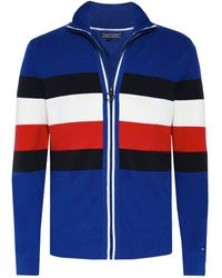 Tommy Hilfiger - Knitted Zip-through Striped Cardigan - Lyst