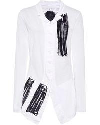 Rundholz - Scribble Print Jersey Jacket - Lyst