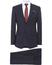 Hackett - Slim Fit Plain Wool Suit - Lyst