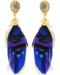Gas Bijoux - Sao Feather Drop Earrings - Lyst