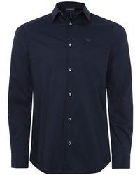 Armani - Stretch Cotton Poplin Shirt - Lyst