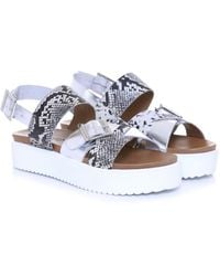 Inuovo - Snake Buckle Sandals - Lyst