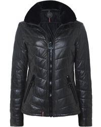 Saphir Luxe Long Fur Trim Parka. 609 €. Jules B. En solde Oakwood - Life  Leather Jacket - Lyst 9fd607a8ac96