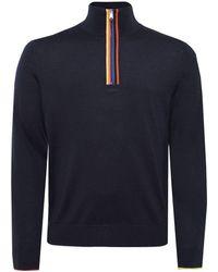 Paul Smith - Merino Wool Artist Stripe Zip Jumper - Lyst