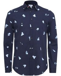 PS by Paul Smith - Slim Fit Paint Mark Shirt - Lyst