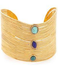 Gas Bijoux   Wave Cabochon Cuff Bracelet   Lyst