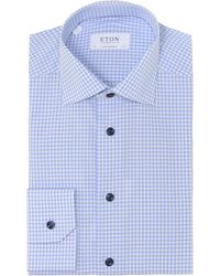 Eton of Sweden - Contemporary Fit Gingham Shirt - Lyst