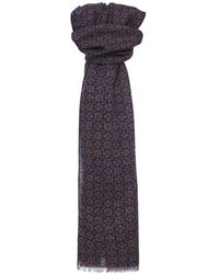 Ascot Accessories - Wool Paisley Scarf - Lyst
