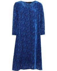 Grizas - Silk Devore Bubble Pattern Dress - Lyst