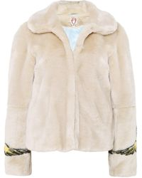 Shrimps - Cherub Sleeve Faux Fur Jacket - Lyst