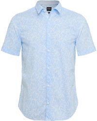 BOSS - Slim Fit Short Sleeve Brodi_s Floral Shirt - Lyst