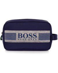 BOSS Green - Fabric Blend Pixel Wash Bag - Lyst
