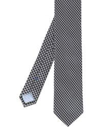 Stenstroms - Houndstooth Silk Tie - Lyst