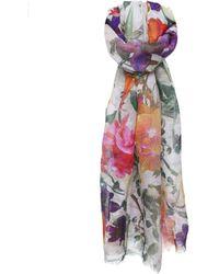 Jules B - Linen Floral Scarf - Lyst