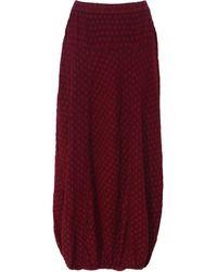 Grizas - Textured Linen Skirt - Lyst