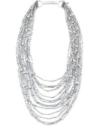 Butterfly | Silver Mount Bead Necklace | Lyst