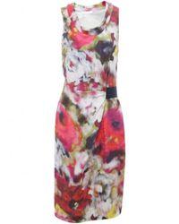 Nicole Farhi | Poppy Print Silk Dress | Lyst