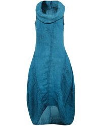 Grizas - Linen Cowl Neck Dress - Lyst