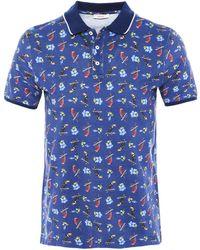 Altea - Pique Cotton Tropical Bird Smith Polo Shirt - Lyst