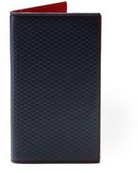 Hackett - Tessellated Leather Card Wallet - Lyst