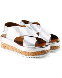 Inuovo - Cross Bar Slingback Sandals - Lyst