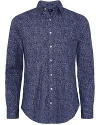 GANT - Taglio Regular Camicia Stampa Tweed - Lyst