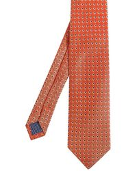 Eton of Sweden - Square Print Silk Tie - Lyst