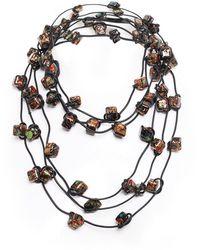 Jianhui   Three Strand Ceramic Bead Necklace   Lyst
