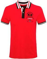 La Martina - Pique Vaughan Polo Shirt - Lyst