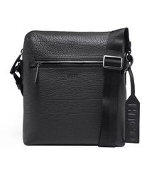 HUGO | Leather Victorian_ns Zip Messenger Bag | Lyst