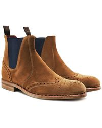Loake - Suede Hoskins Chelsea Boots - Lyst