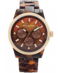 MICHAEL Michael Kors - Tortoiseshell Chronograph Michael Kors Watch Mk5038 - Lyst