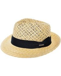 Stetson - Woven Straw Fedora - Lyst