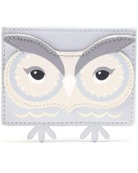 Kate Spade - Leather Owl Card Holder - Lyst