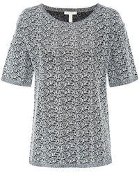 Eileen Fisher - Linen Crepe T-shirt - Lyst