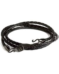 Simon Carter - Leather Wing Wrap Bracelet - Lyst