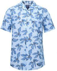 GANT - Regular Fit Linen Petal Print Revere Shirt - Lyst