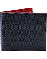 Hackett - Tessellated Leather Billfold Wallet - Lyst