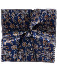 Stenstroms - Silk Reversible Pocket Square - Lyst