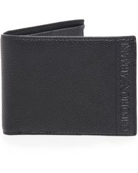 Armani - Pebbled Faux Leather Coin Wallet - Lyst