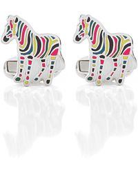 PS by Paul Smith - Stripe Zebra Cufflinks - Lyst