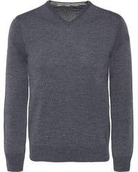 Stenstroms - Merino Wool V-neck Jumper - Lyst
