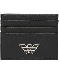 Armani - Logo Tumbled Card Holder - Lyst