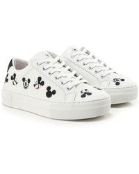 MOA - Disney Embroidered Mickey Trainers - Lyst
